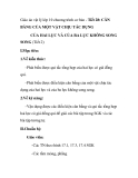 Giáo án vật lý lớp 10 chương trình cơ bản - Tiết 28: CÂN BẰNG CỦA MỘT VẬT CHỊU TÁC DỤNG CỦA HAI LỰC VÀ CỦA BA LỰC KHÔNG SONG SONG (Tiết 2)