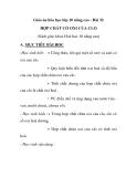 Giáo án hóa học lớp 10 nâng cao - Bài 32 HỢP CHẤT CÓ OXI CỦA CLO