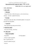 Giáo án hóa học lớp 11 nâng cao - Bài 18 : THỰC HÀNH. TÍNH CHẤT CỦA CÁC HỢP CHẤT NITƠ , PHOTPHO