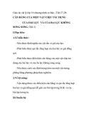 Giáo án vật lý lớp 10 chương trình cơ bản - Tiết 27-28: CÂN BẰNG CỦA MỘT VẬT CHỊU TÁC DỤNG CỦA HAI LỰC VÀ CỦA BA LỰC KHÔNG SONG SONG (Tiết 1)