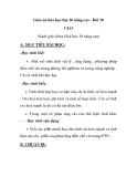 Giáo án hóa học lớp 10 nâng cao - Bài 30 CLO