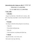 Giáo án hóa học lớp 11 nâng cao - Bài 17: LUYỆN TẬP TÍNH CHẤT CỦA PHOTPHO VÀ CÁC HỢP CHẤT CỦA PHOTPHO