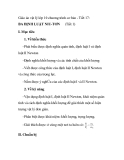 Giáo án vật lý lớp 10 chương trình cơ bản - Tiết 17: BA ĐỊNH LUẬT NIU-TƠN