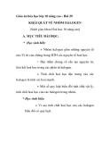 Giáo án hóa học lớp 10 nâng cao - Bài 29 KHÁI QUÁT VỀ NHÓM HALOGEN