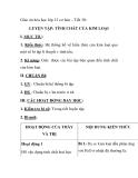 Giáo án hóa học lớp 12 cơ bản – Tiết 30: LUYỆN TẬP: TÍNH CHẤT CỦA KIM LOẠI