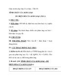 Giáo án hóa học lớp 12 cơ bản – Tiết 29: TÍNH CHẤT CỦA KIM LOẠI DY ĐIỆN HỐ CỦA KIM LOẠI (Tiết 3)