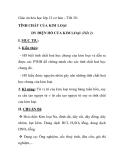 Giáo án hóa học lớp 12 cơ bản – Tiết 28: TÍNH CHẤT CỦA KIM LOẠI DY ĐIỆN HỐ CỦA KIM LOẠI (Tiết 2)