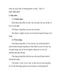 Giáo án vật lý lớp 10 chương trình cơ bản - Tiết 21: LỰC MA SÁT