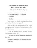 Giáo án hóa học lớp 10 nâng cao - Bài 25 PHẢN ỨNG OXI HOÁ - KHỬ (Sách giáo khoa