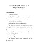 Giáo án hóa học lớp 10 nâng cao - Bài 24 LUYỆN TẬP CHƯƠNG 3