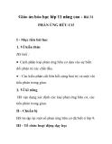Giáo án hóa học lớp 11 nâng cao - Bài 31 PHẢN ỨNG HỮU CƠ