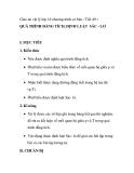 Giáo án vật lý lớp 10 chương trình cơ bản - Tiết 49 : QUÁ TRÌNH ĐẲNG TÍCH, ĐỊNH LUẬT SÁC - LƠ
