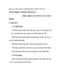 Giáo án vật lý lớp 10 chương trình cơ bản - Tiết 16: TỔNG HỢP VÀ PHÂN TÍCH LỰC ĐIỀU KIỆN CÂN BẰNG CỦA CHẤT ĐIỂM
