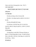 Giáo án vật lý lớp 10 chương trình cơ bản - Tiết 47 : CẤU TẠO CHẤT THUYẾT ĐỘNG HỌC PHÂN TỬ CHẤT KHÍ