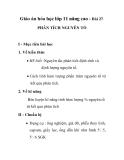 Giáo án hóa học lớp 11 nâng cao - Bài 27. PHÂN TÍCH NGUYÊN TỐ