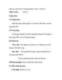 Giáo án vật lý lớp 10 chương trình cơ bản - Tiết 44 : THẾ NĂNG