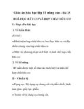 Giáo án hóa học lớp 11 nâng cao - Bài 25 HOÁ HỌC HỮU CƠ VÀ HỢP CHẤT HỮU CƠ
