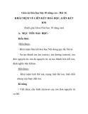 Giáo án hóa học lớp 10 nâng cao - Bài 16 KHÁI NIỆM VỀ LIÊN KẾT HOÁ HỌC, LIÊN KẾT ION