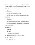 Giáo án vật lý lớp 10 chương trình cơ bản - Tiết 38 : ĐỘNG LƯỢNG - ĐỊNH LUẬT BẢO TOÀN ĐỘNG LƯỢNG (Tiết 2)