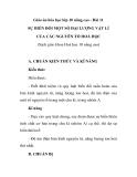 Giáo án hóa học lớp 10 nâng cao - Bài 11 SỰ BIẾN ĐỔI MỘT SỐ ĐẠI LƯỢNG VẬT LÍ CỦA CÁC NGUYÊN TỐ HOÁ HỌC
