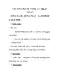 Giáo án hóa học lớp 11 nâng cao - Bài 33 : ANKAN ĐỒNG ĐẲNG - ĐỒNG PHÂN - DANH PHÁP