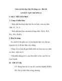 Giáo án hóa học lớp 10 nâng cao - Bài 46 LUYỆN TẬP CHƯƠNG 6