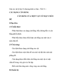 Giáo án vật lý lớp 10 chương trình cơ bản - Tiết 31 : CÁC DẠNG CÂN BẰNG CÂN BẰNG CỦA MỘT VẬT CÓ MẶT CHÂN ĐẾ