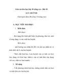 Giáo án hóa học lớp 10 nâng cao - Bài 43 LƯU HUỲNH