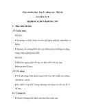 Giáo án hóa học lớp 11 nâng cao - Bài 44 LUYỆN TẬP HIĐROCACBON KHÔNG NO
