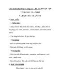Giáo án hóa học lớp 11 nâng cao - Bài 13 : LUYỆN TẬP TÍNH CHẤT CỦA NITƠ VÀ HỢP CHẤT CỦA NITƠ
