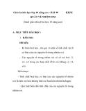 Giáo án hóa học lớp 10 nâng cao - BÀI 40 QUÁT VỀ NHÓM OXI