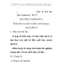 Giáo án hóa học lớp 11 nâng cao -  Bài 57  BÀI THỰC HÀNH SỐ 6