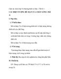 Giáo án vật lý lớp 10 chương trình cơ bản - Tiết 61 : CÁC HIỆN TƯỢNG BỀ MẶT CỦA CHẤT LỎNG (Tiết 2)