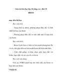 Giáo án hóa học lớp 10 nâng cao - Bài 35 BROM
