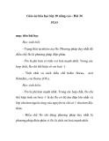Giáo án hóa học lớp 10 nâng cao - Bài 34 FLO