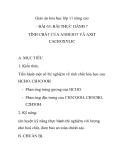 Giáo án hóa học lớp 11 nâng cao - BÀI 63: BÀI THỰC HÀNH 7 TÍNH CHẤT CỦA ANĐEHIT VÀ AXIT CACBOXYLIC