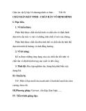 Giáo án vật lý lớp 10 chương trình cơ bản -  Tiết 58  CHẤT RẮN KẾT TINH - CHẤT RẮN VÔ ĐỊNH HÌNH