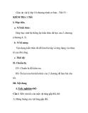Giáo án vật lý lớp 10 chương trình cơ bản - Tiết 53 : KIỂM TRA 1
