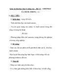 Giáo án hóa học lớp 11 nâng cao - Bài 11 : AMONIAC VÀ MUỐi AMONi ( tt )