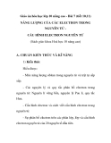 Giáo án hóa học lớp 10 nâng cao - Bài 7 (tiết 10,11) NĂNG LƯỢNG CỦA CÁC ELECTRON TRONG NGUYÊN TỬ CẤU HÌNH ELECTRON NGUYÊN TỬ (