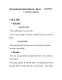 Giáo án hóa học lớp 11 nâng cao - Bài 11 : VÀ MUỐI AMONI  AMONIAC