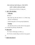Giáo án hóa học lớp 10 nâng cao - Bài 6 (tiết 9) LỚP VÀ PHÂN LỚP ELECTRON