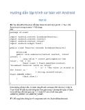 Giáo trình hướng dẫn lập trình cơ bản với hệ điều hành mở Androi 3.1 p7