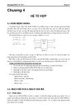 Bài giảng điện tử số I - Chương 4