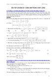 Bài tập cơ học đại cương - Phần 2 Dao động và sóng cơ - Chương 3