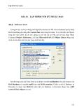 LẬP TRÌNH TRỰC QUAN - PHẦN II VISUAL BASIC - BÀI 23