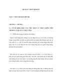 QUẢN LÝ CHẤT THẢI RẮN - TẬP 1 CHẤT THẢI RẮN ĐÔ THỊ - CHƯƠNG 1