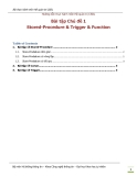 Chủ đề 1 Stored-Procedure & Trigger & Function