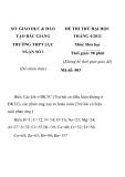ĐỀ THI THỬ ĐẠI HỌC THÁNG 4-2011 MÔN HÓA HỌC Mã đề: 003 SỞ GIÁO DỤC & ĐÀO TẠO BẮC GIANG TRƯỜNG THPT LỤC NGẠN SỐ 1