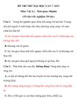 ĐỀ THI THỬ ĐẠI HỌC LẦN 7 TRƯỜNG THPT PHAN ĐĂNG LƯU. 2011 Môn: Vật Lý
